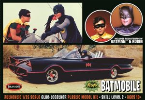 Polar Lights 1966 Batmobile w/ Batman and Robin figures 1:25 Scale Model Kit