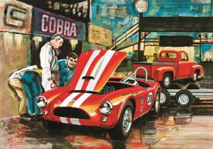 AMT Cobra Racing Team Shelby Cobra & '53 Ford Pickup & Trailer 1:25 Scale Model Kit