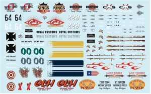 Auto World Rat Rod Graphics Decal 1:64 Scale (Auto World Exclusive)
