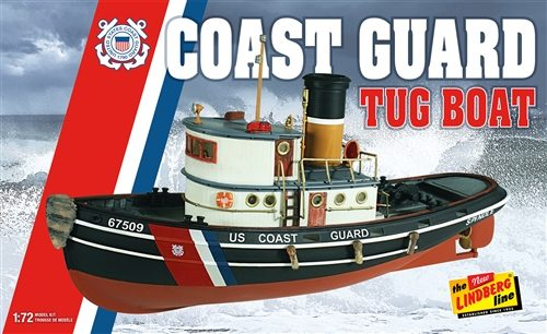 Lindberg Coast Guard Tug Boat 1:72 Scale Model Kit