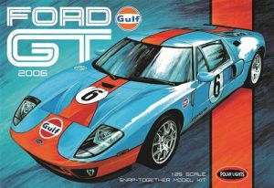 Polar Lights Gulf 2006 Ford GT 1:25 Scale SNAP Model Kit