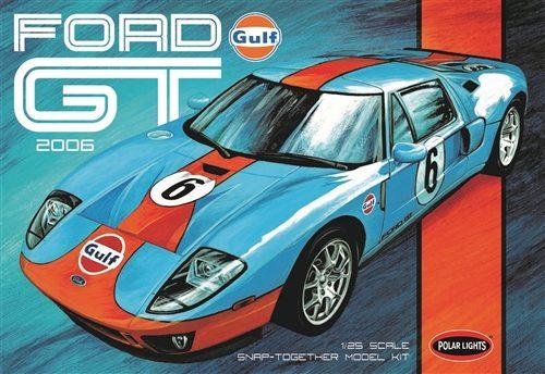Polar Lights Gulf 2006 Ford GT 1:25 Scale SNAP Model Kit