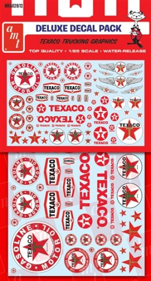 AMT Texaco Trucking Decals 1:25 Scale