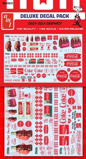 AMT Coca-Cola Decal Pack 1:25 Scale