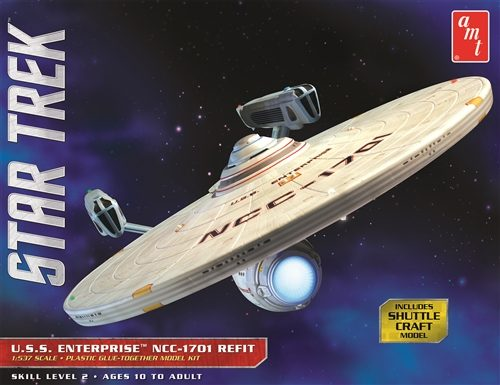 AMT Star Trek USS Enterprise NCC-1701 Refit 1:537 Scale Model Kit