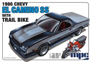 MPC 1986 Chevy  El Camino SS w/Dirt Bike 1:25 Scale Model Kit