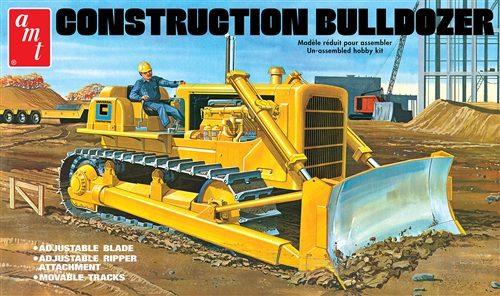 AMT Construction Bulldozer 1:25 Scale Model Kit
