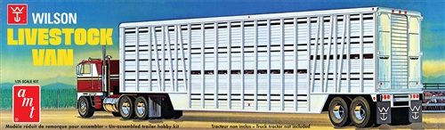 AMT Wilson Livestock Van Trailer 1:25 Scale Model Kit