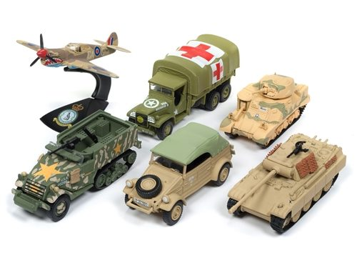 Johnny Lightning Military 2018 Release 2 Set A (6-Car Sealed Case) Diecast