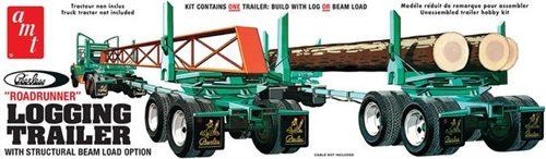AMT Peerless Logging Trailer 1:25 Scale Model Kit