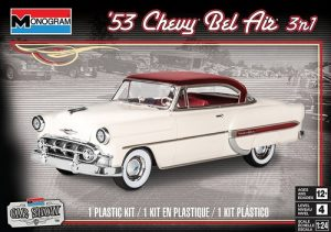 Monogram 1953 Chevy Bel Air 3 N 1 1:24 Scale Model Kit