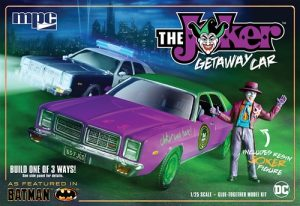 MPC Batman The Joker Getaway Car 1978 Dodge Monaco w/Joker Figure 1:25 Scale Model Kit