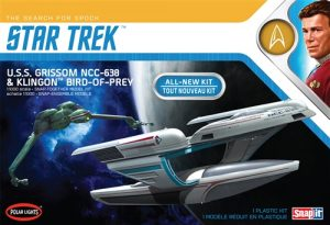 Polar Lights Star Trek U.S.S. Grissom / Klingon BoP (2-pack) Snap 1:1000 Scale Model Kit