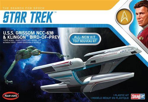 Polar Lights Star Trek U.S.S. Grissom / Klingon BoP (2-pack) Snap 1:1000 Scale Model Kit