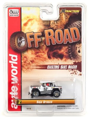 Auto World Xtraction R24 Baja Bronco White/Black HO Scale Slot Car