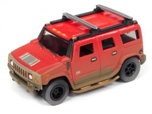 Auto World Xtraction R24 2004 Hummer H2 Red HO Scale Slot Car