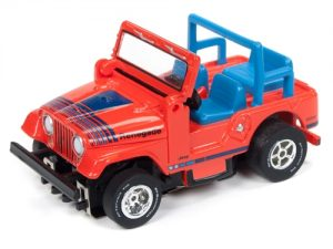 Auto World Xtraction R24 Jeep CJ-5 Red HO Scale Slot Car