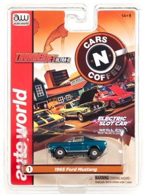 Auto World Thunderjet R23 1965 Ford Mustang Fastback Green HO Scale Slot Car