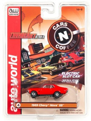 Auto World Thunderjet R23 1969 Chevrolet Nova Orange HO Scale Slot Car