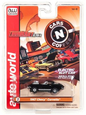 Auto World Thunderjet R23 1967 Chevrolet Corvette Coupe Black HO Scale Slot Car