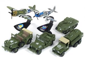 Johnny Lightning Military 2018 Release 3 Set A (6-Car Sealed Case) Diecast