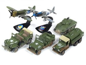 Johnny Lightning Military 2018 Release 3 Set B (6-Car Sealed Case) Diecast