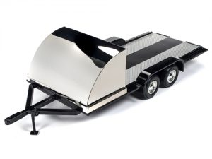 American Muscle Trailer (Black w/Chrome) 1:18 Scale Diecast