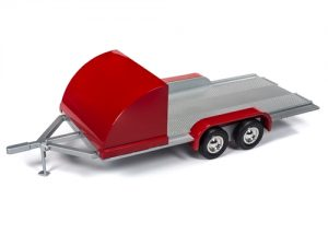 American Muscle Trailer (Red w/Silver) 1:18 Scale Diecast