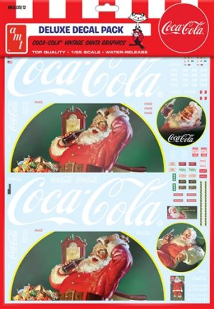 AMT Vintage Coca-Cola Santa Clause Big Rig Graphic Decals 1:25 Scale