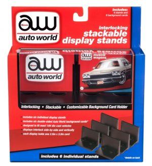 Auto World Interlocking Stacking Display Stand (6 pack) for 1:64 Scale