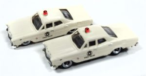 Classic Metal Works 1967 Ford State Police Car (2-Pack) 1:160 N Scale