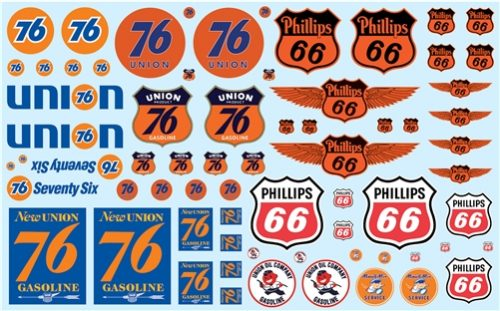 AMT Phillips 66 & Union 76 Trucking Decal Pack Decals 1:25 Scale