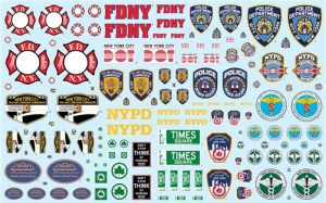 NYC Auxiliary Service Logos Decal Pack