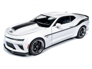 Auto World 2018 Chevrolet Camaro Yenko S/C (White w/black stripe)1:18 Scale Diecast
