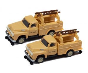 Classic Metal Works 1954 Ford Hi-Rail Railroad Truck (Rio Grande) (2-Pack) 1:160 N Scale