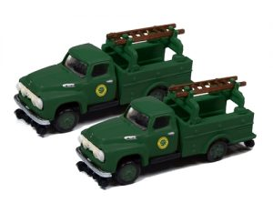 Classic Metal Works 1954 Ford Hi-Rail Railroad Truck (Southern) (2-Pack) 1:160 N Scale