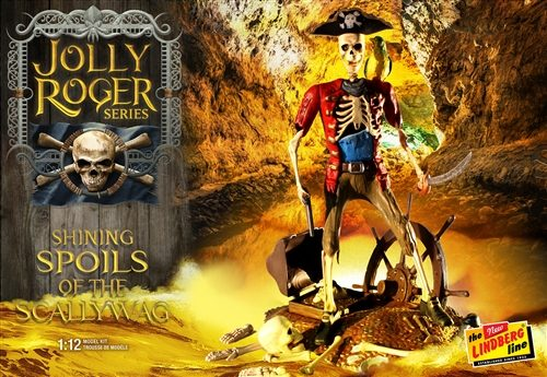 Lindberg Jolly Roger Series: The Shining Spoils of the Scallywag 1:12 Scale Model Kit
