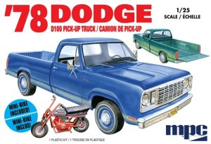 MPC 1978 Dodge D100 Custom Pickup 1:25 Scale Model Kit