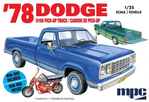 MPC 1978 Dodge D100 Custom Pickup 1:25 Scale Model Kit