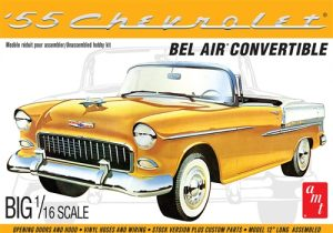 AMT 1955 Chevy Bel Air Convertible 1:16 Scale Model Kit