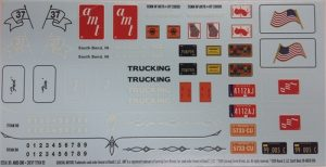 AMT Chevy Titan 90 Cabover 1:25 Scale Decals