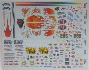 AMT Double Dragster 1:25 Scale Decals