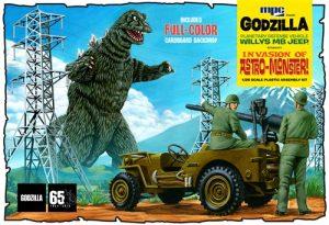 MPC Godzilla Army Jeep 1:25 Scale Model Kit