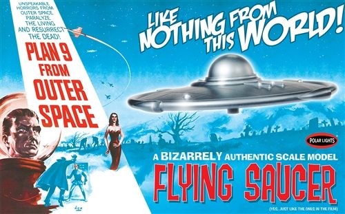 Polar Lights Plan 9 From Outer Space Flying Saucer 1:48 Scale Model Kit