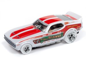 "Auto World 4Gear R22 Shirley ""Cha-Cha"" Muldowney - 1972 Ford Mustang Funny Car iWheels HO Scale Slot Car"