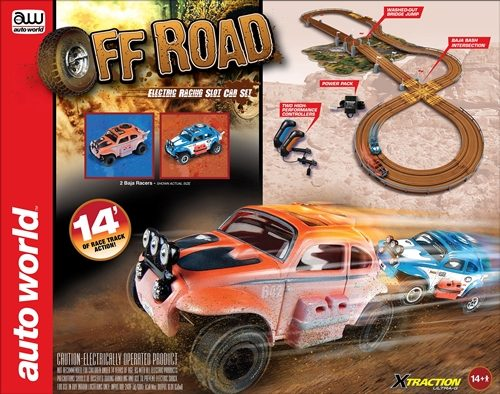 Auto World 14' Off Road X-Traction Slot Race Set HO Scale