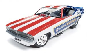 Auto World 1970's Damn Yankee Cuda Funny Car (Legends of 1/4 Mile) - Ron O'Donnell 1:18 Scale Diecast