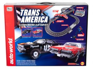 Auto World 10' Trans America Slot Race Set HO Scale