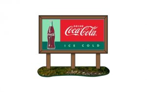 Classic Metal Works 1960's Country Billboard (Coca-Cola) 1:87 HO Scale
