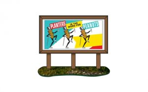 Classic Metal Works 1950's Country Billboard (Planters Peanuts) 1:87 HO Scale